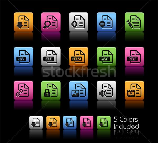 Documents Icons - 1 // Color Box Stock photo © Palsur