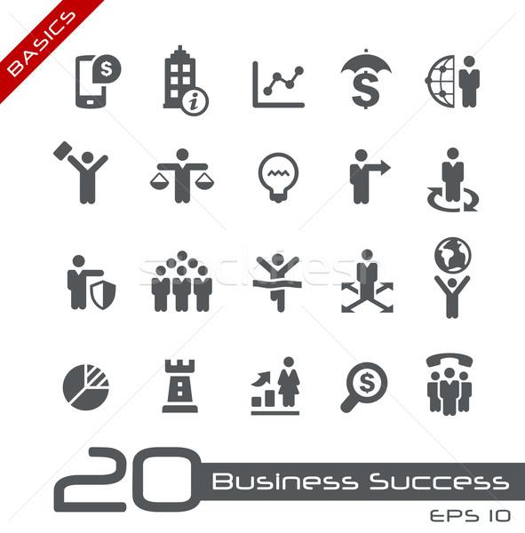 Business Icon Set -- Basics Stock photo © Palsur