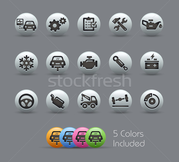 Car Service Icons // Pearly Series Stock photo © Palsur