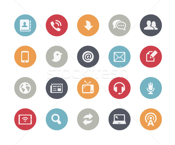 Media Communications Icons // Classics Series Stock photo © Palsur