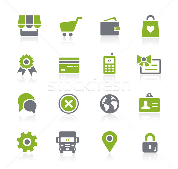 Online Store Icons // Natura Series Stock photo © Palsur