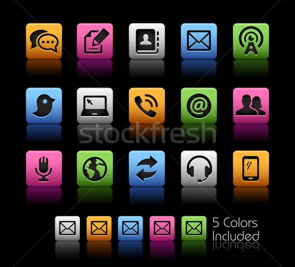 связи иконки вектора файла цвета икона Сток-фото © Palsur