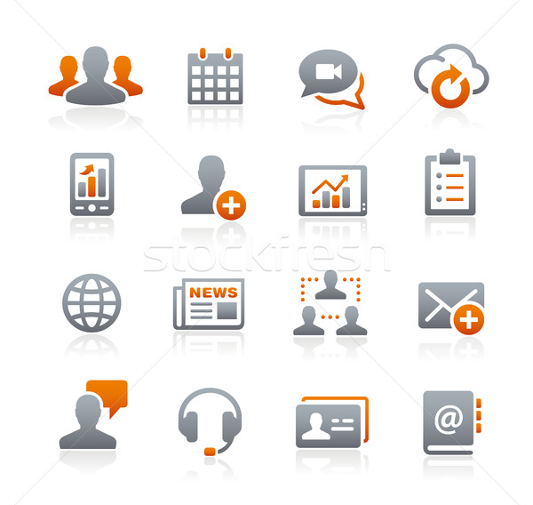 Business Network Technology -- Graphite Series Stock photo © Palsur