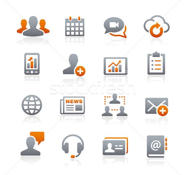 Red de negocios tecnología grafito vector iconos digital Foto stock © Palsur
