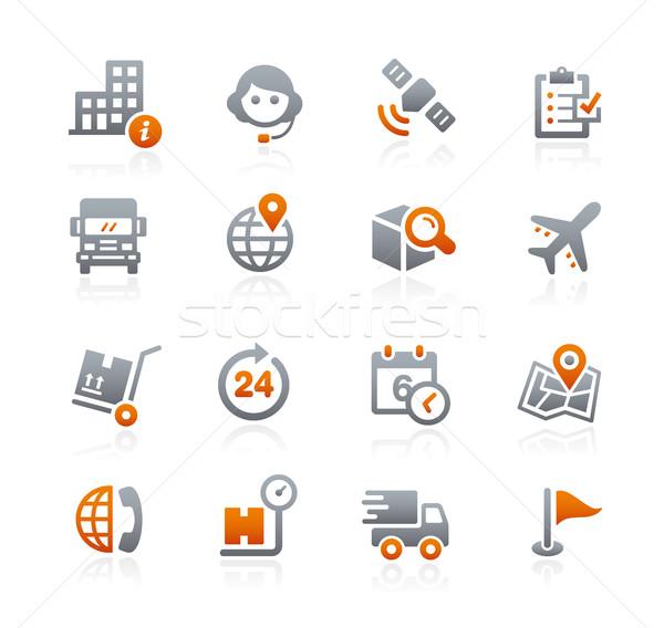 Scheepvaart iconen grafiet vector digitale print Stockfoto © Palsur