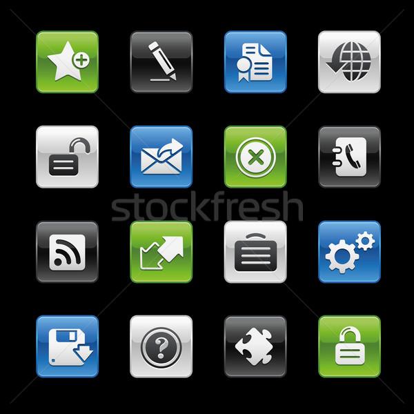 Web 20 icônes professionnels site présentation Photo stock © Palsur