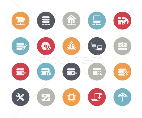 Network and Server Icons // Classics Series Stock photo © Palsur