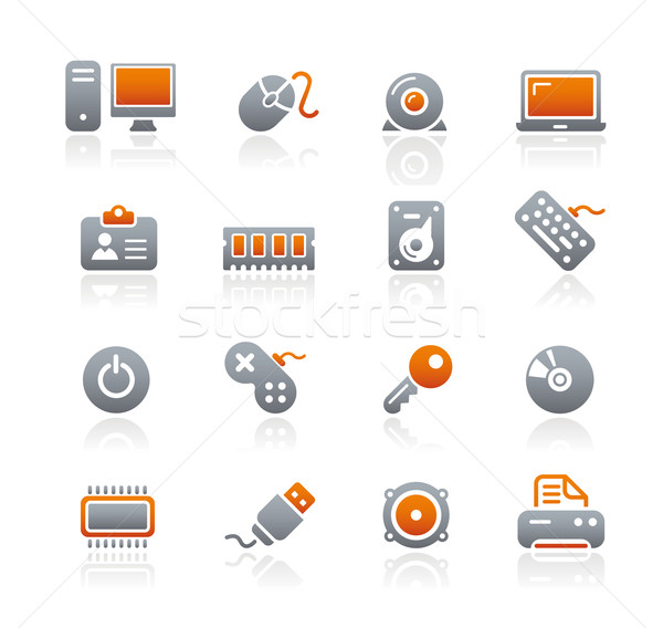 Computer & Devices Icons // Graphite Series Stock photo © Palsur