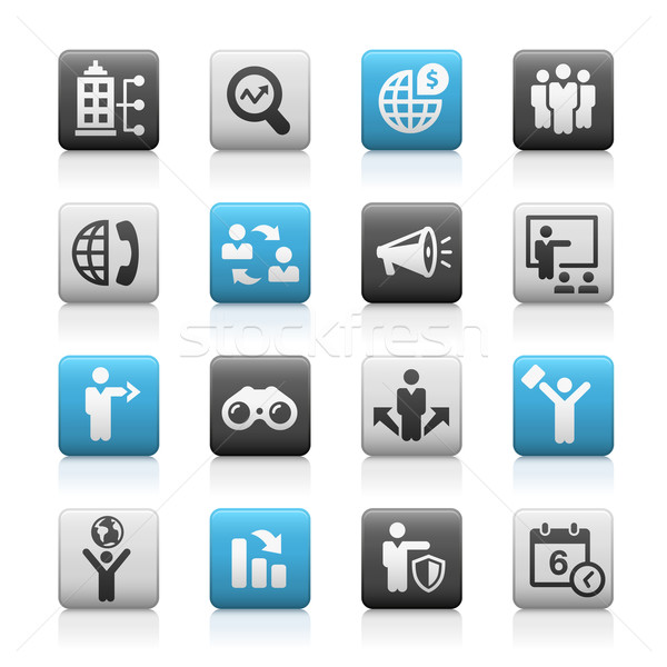 Business Opportunities Icons -- Matte Series Stock photo © Palsur