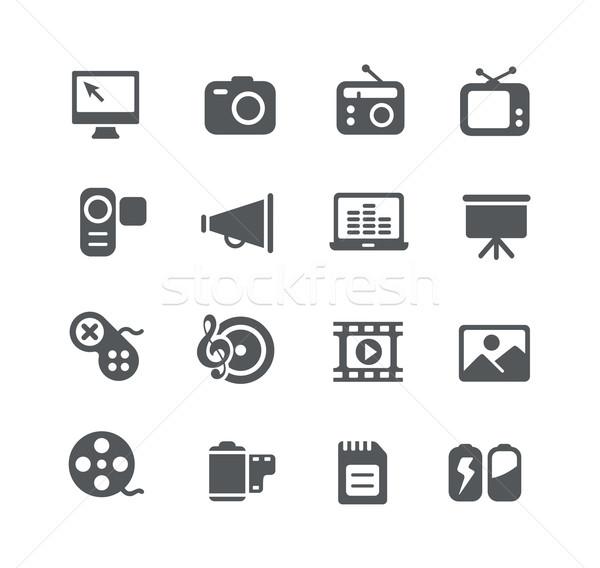 Teia desenvolvimento ícones utilidade vetor digital Foto stock © Palsur