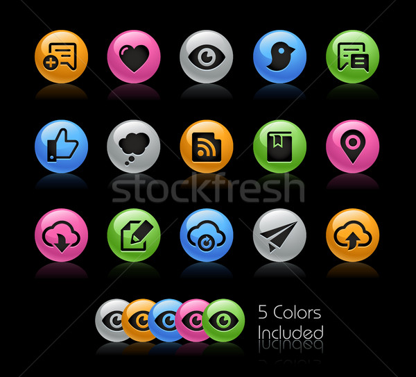 Social Sharing and Communications - Gelcolor Series Stock photo © Palsur