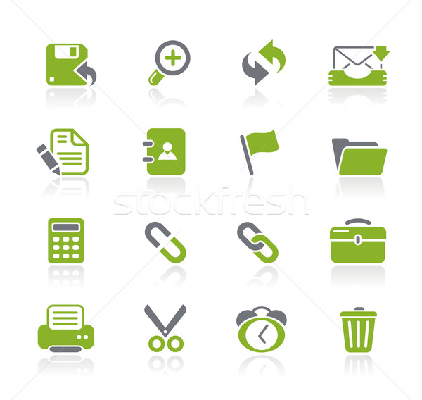 Foto stock: Interfaz · iconos · de · la · web · profesional · iconos · sitio · web · presentación