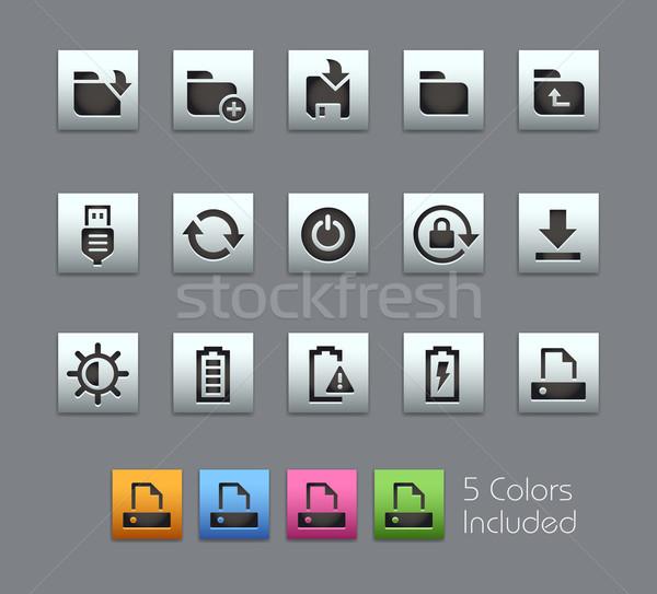 Stock photo: Energy and Storage Icons -- Satinbox Series