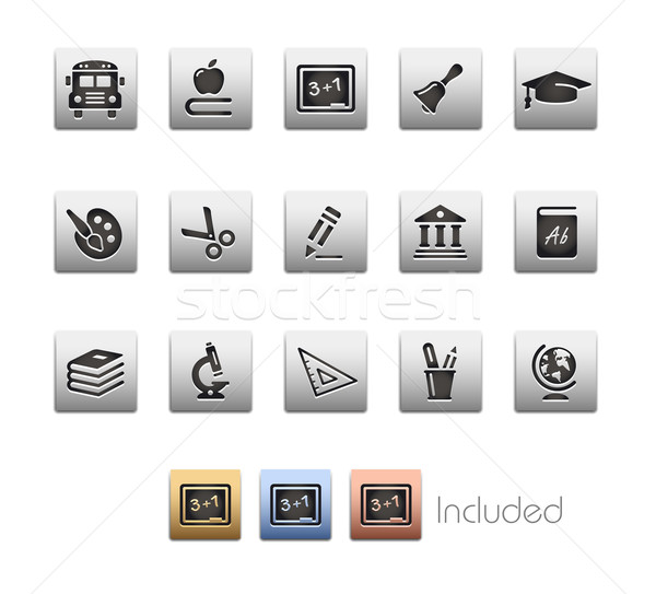 Oktatás ikonok szett szín ikon különböző Stock fotó © Palsur