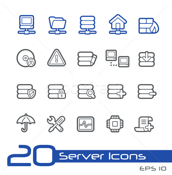 Servidor iconos línea vector sitio web presentación Foto stock © Palsur