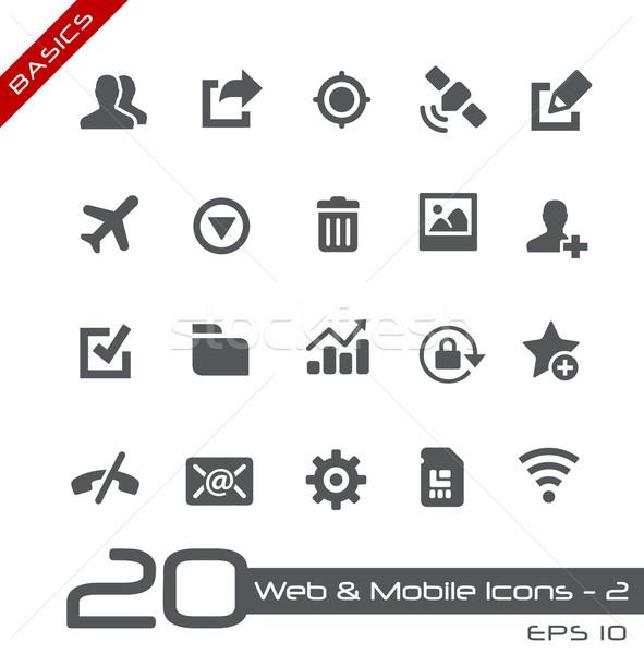 Web & Mobile Icons-2 // Basics Stock photo © Palsur