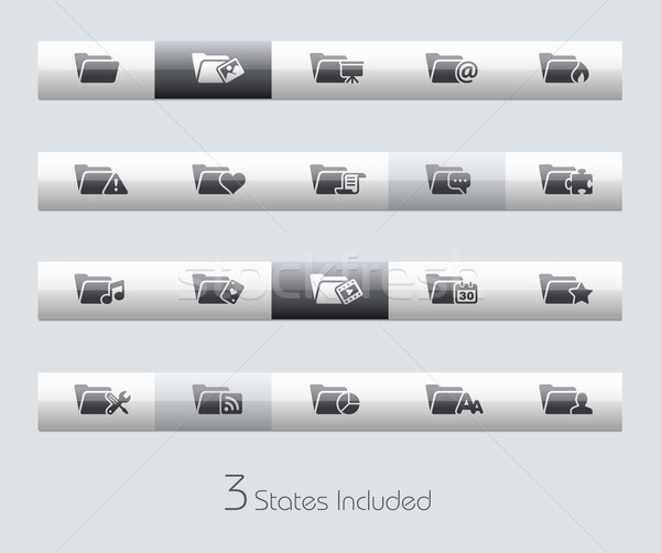 Stock photo: Folder Icons - 2 of 2 // Classic Bar Series