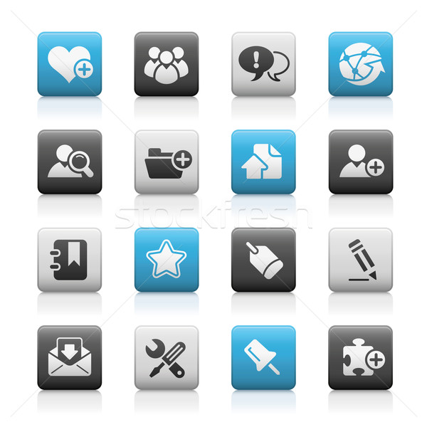 Blog & Internet Web Icons // Matte Series Stock photo © Palsur