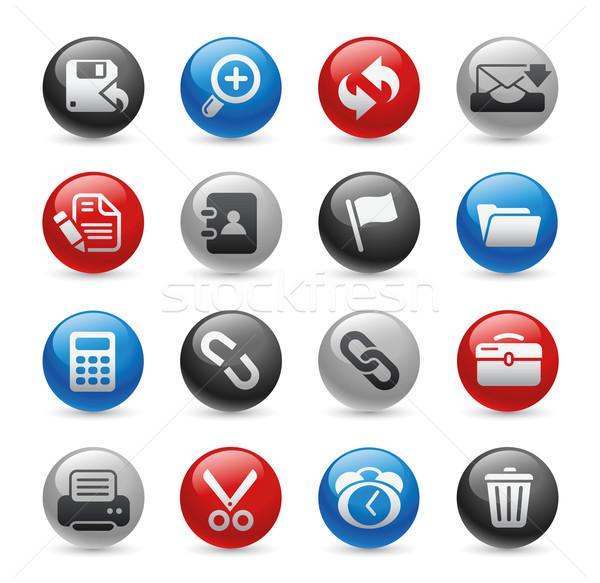 Interface Web Icons // Gel Pro Series Stock photo © Palsur