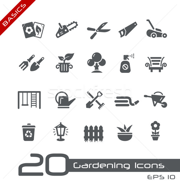 Gardening Icons -- Basics Stock photo © Palsur