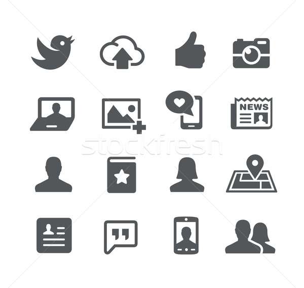 Social Icons -- Utility Series Stock photo © Palsur