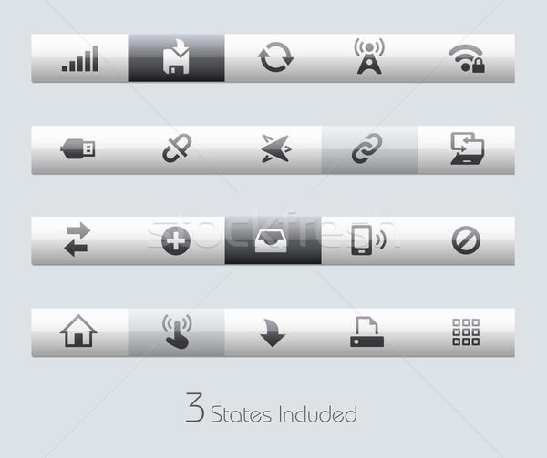 Web mobiele eps bestand knoppen verschillend Stockfoto © Palsur