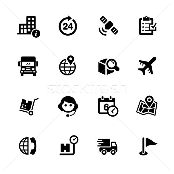 Shipping and Tracking Icons // Black Series Stock photo © Palsur