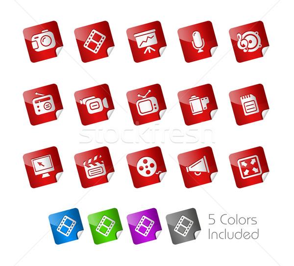 Multimédia matrica eps akta szín ikon Stock fotó © Palsur