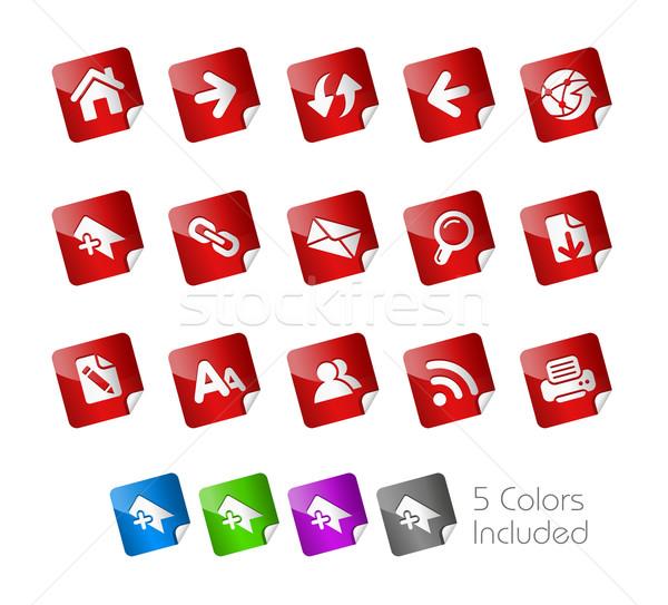 Stock photo: Web Navigation // Sticker Series