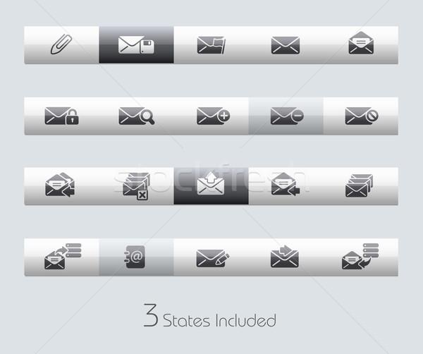 Stock fotó: Email · klasszikus · bár · eps · akta · gombok