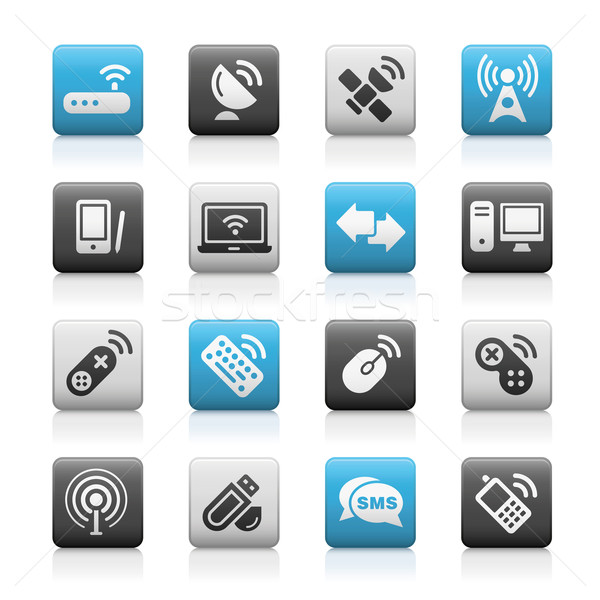 Wireless & Communications Icons // Matte Series  Stock photo © Palsur