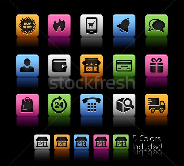 Simgeler vektör dosya renk ikon farklı Stok fotoğraf © Palsur
