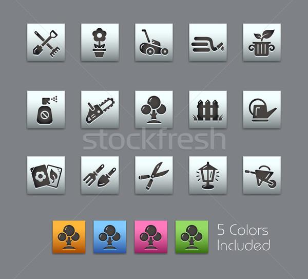 Gardening Icons -- Satinbox Series Stock photo © Palsur