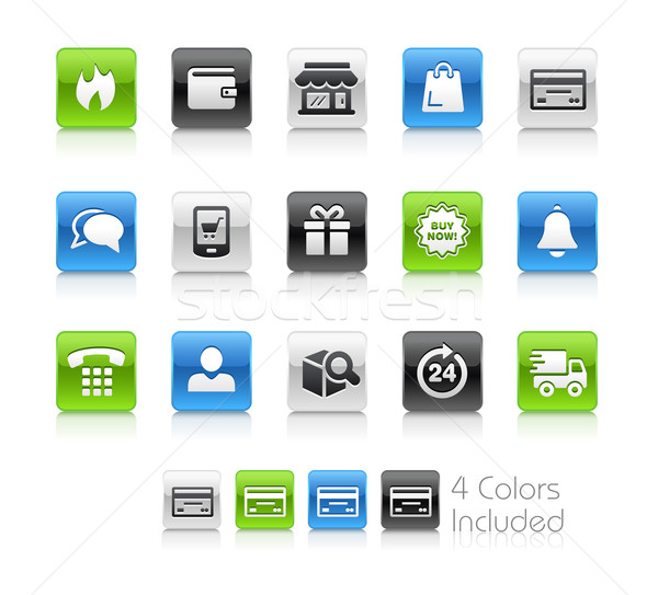 e-Shopping Icons -- Clean Series Stock photo © Palsur