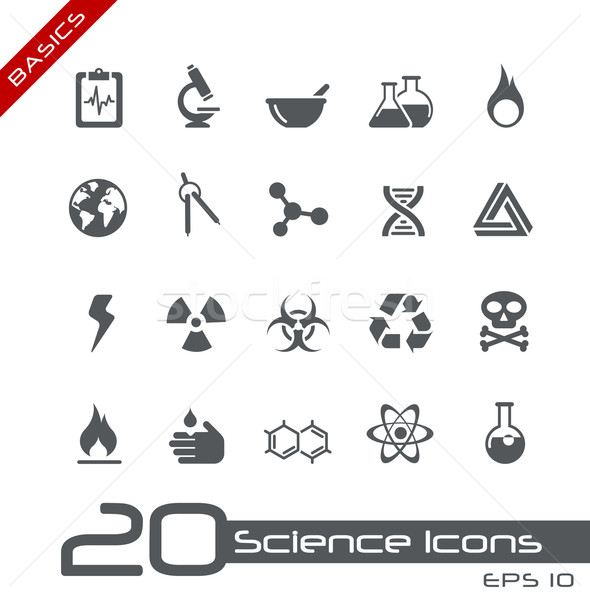 Science Icons // Basics Stock photo © Palsur