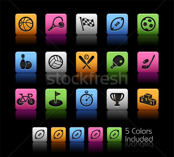 Sports Icons // Color Box Stock photo © Palsur