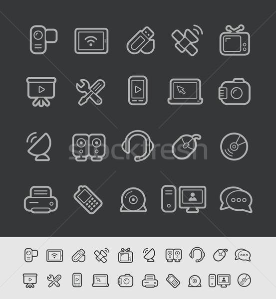 Communication Icons -- Black Line Series Stock photo © Palsur