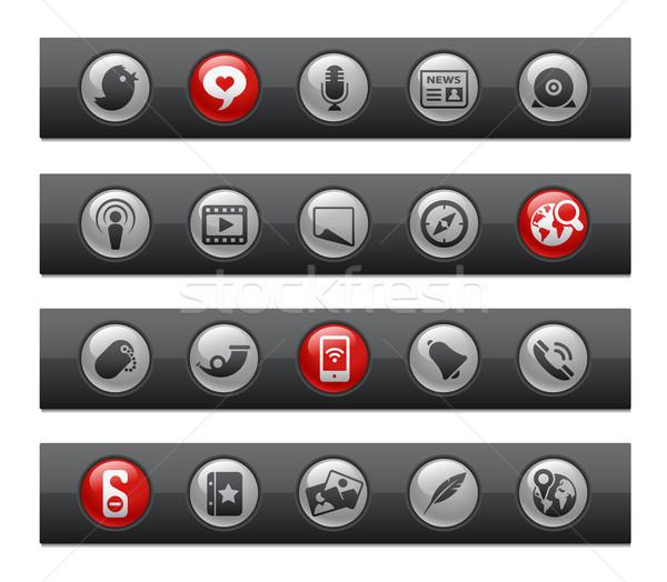 кнопки Бар профессиональных иконки сайт Сток-фото © Palsur