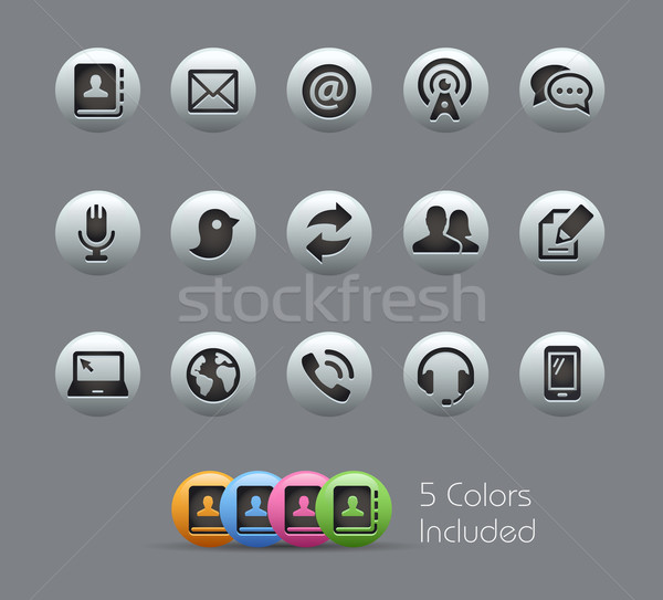 Communications Icons  -- Pearly Series Stock photo © Palsur