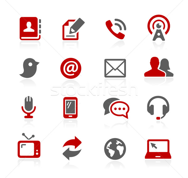 Communications Icons - Redico Series Stock photo © Palsur