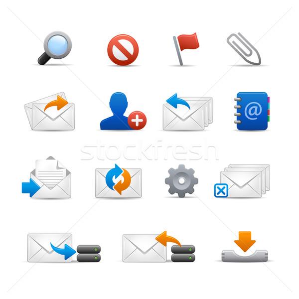 Profi email ikonok szett puha vektor Stock fotó © Palsur