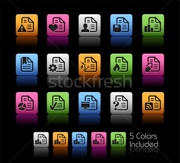Documents Icons - 2 // Color Box Stock photo © Palsur