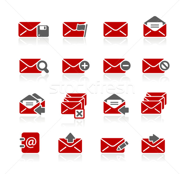 E-mail Icons -- Redico Series  Stock photo © Palsur