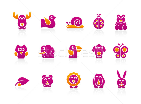Stylized Animals 2 colors Stock photo © Palsur