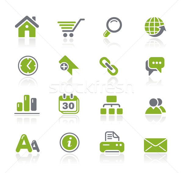 Web Site & Internet Icons // Natura Series Stock photo © Palsur