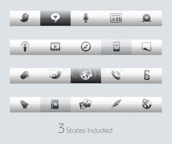 Medios de comunicación social vector archivo botones diferente capas Foto stock © Palsur