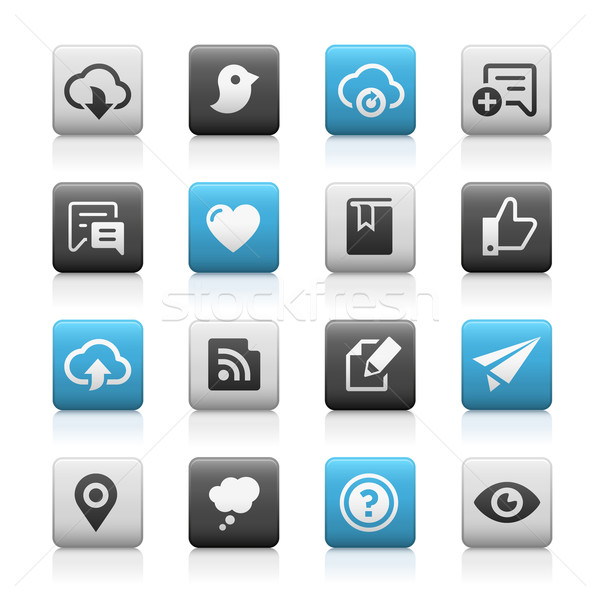 Web and Mobile Icons 8 // Matte Series Stock photo © Palsur