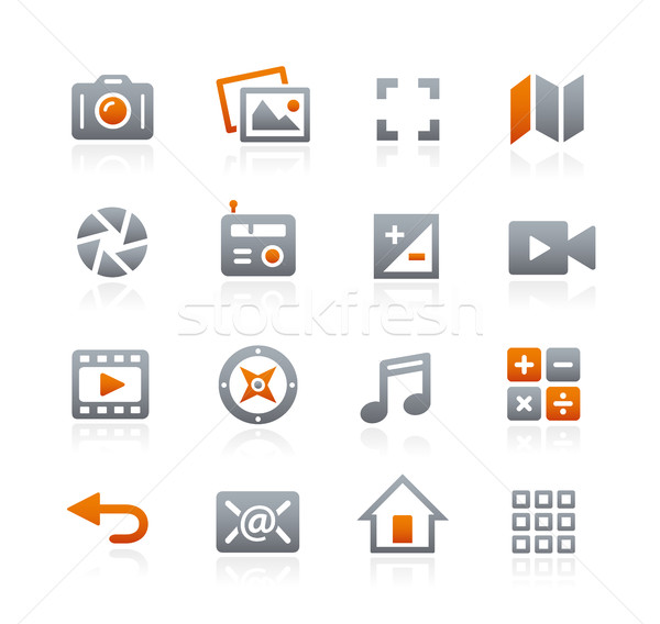 Web and Mobile Icons 5 -- Graphite Series Stock photo © Palsur