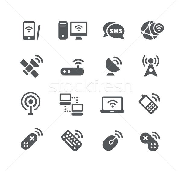 Bezprzewodowej komunikacja użyteczność wektora ikona cyfrowe Zdjęcia stock © Palsur