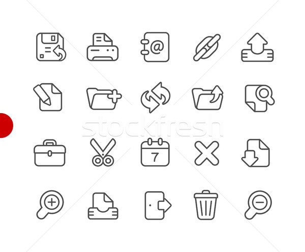 Interface icons // Red Point Series Stock photo © Palsur